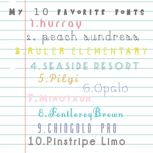 Natt Smith shares 10 favorite free fonts and their sources.