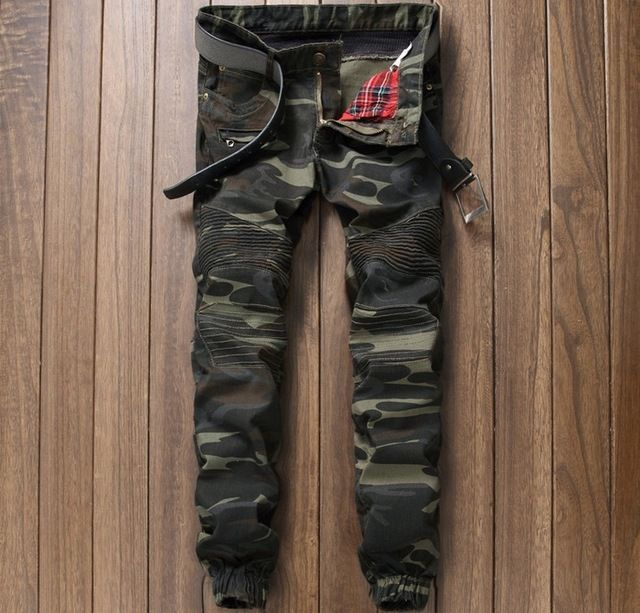 Special offer European American style 2016 Men's jeans luxury brand denim trousers army green jeans camouflage Pencil Pants Slim jeans for men just only $26.69 - 30.25 with free shipping worldwide  #jeansformen Plese click on picture to see our special price for you