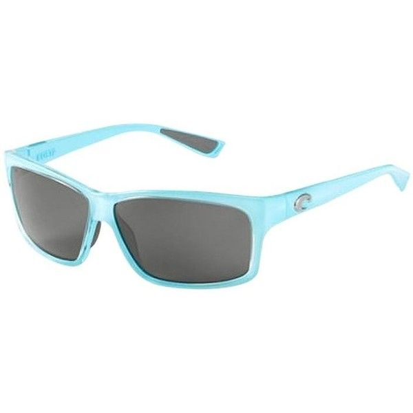 Pre-owned Costa Del Mar Caballito Ocean Blue With Grey Polarized Lens (£120) ❤ liked on Polyvore featuring accessories, eyewear, sunglasses, ocean blue, costa eyewear, grey glasses, costa glasses, costa sunglasses and gray sunglasses