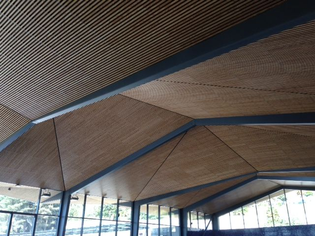 Pau Aquatic center timber ceilings by Laudescher.