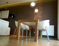 Living Area, Private Apartment Cracow, Poland by Altro Studio Projektowanie wnętrz Barba , via Behance