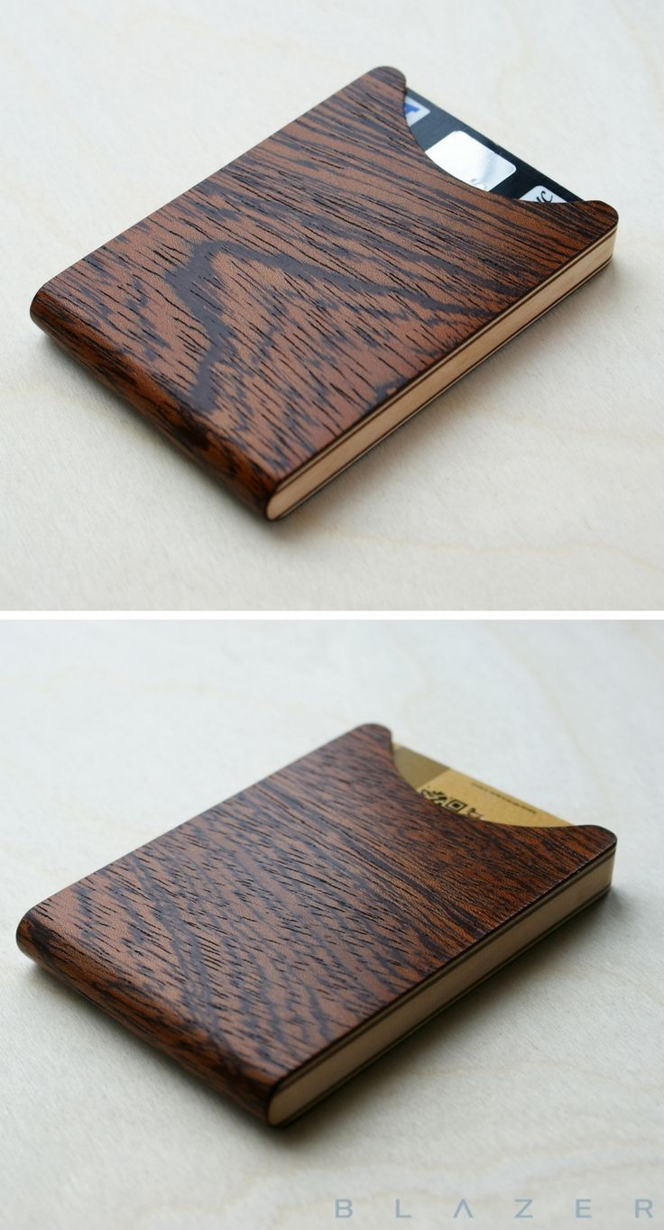 d401899e775f8 Mother s Day Gift Ideas   BLAZER LUXURY wood card holder wallet for 7-8 credit  cards