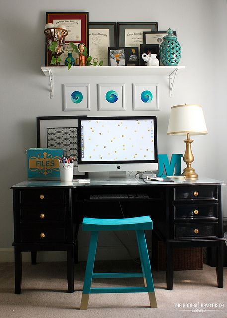 Office Desk Makeover-002 by TheHomesIHaveMade, via Flickr