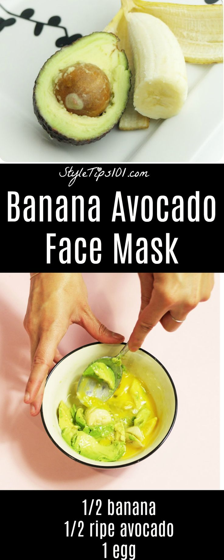 Use this banana and avocado face mask to prevent wrinkles and fine lines and also to moisturize dry, dehydrate skin. Use 2-3 times a week.