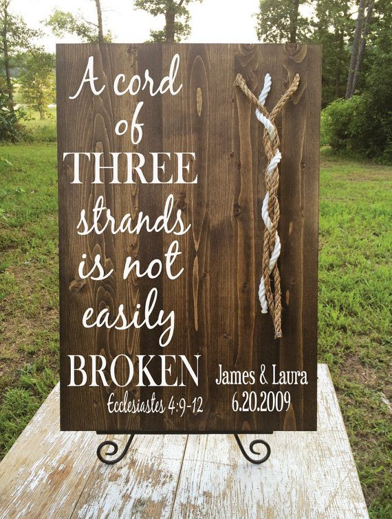 A Cord of Three Strands Custom Board by JLCustomDesigns1 on Etsy