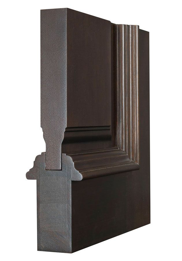 Interior Door Custom - Single - Solid Wood with Dark Mahogany Finish, Classic, Model DBI-580A
