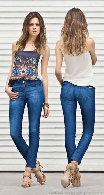 Markova jeans moda verano 2014. Pantalones de mujer 2014.