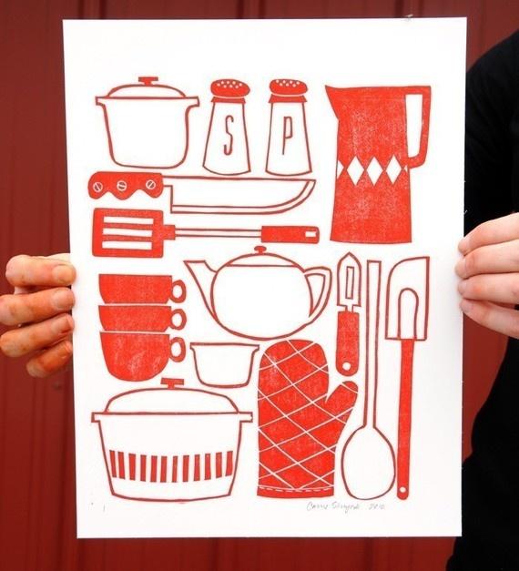 retro kitchen red