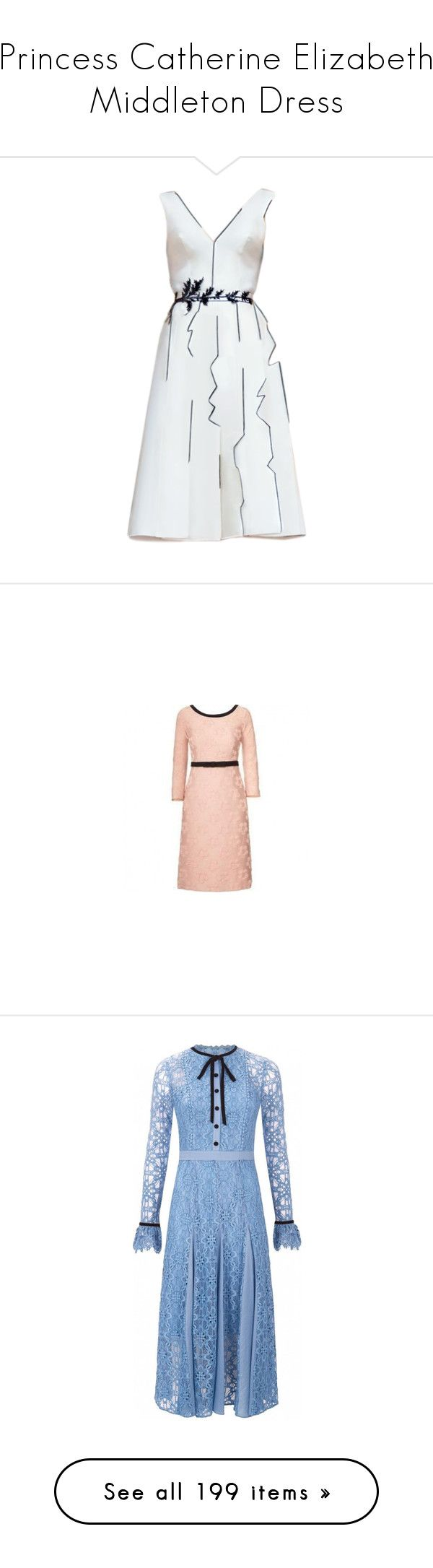 """""""Princess Catherine Elizabeth Middleton Dress"""" by taught-to-fly19 on Polyvore featuring dresses, pink dress, flower cocktail dress, tight dresses, blossom dress, pink fitted dress, temperley london dress, blue dresses, temperley london e blue color dress"""