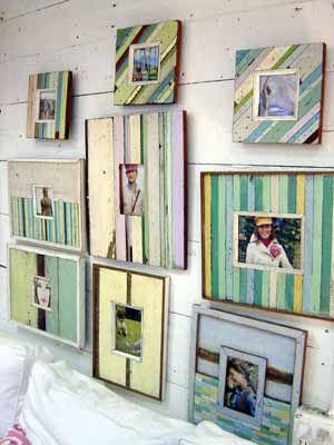 beachy picture frames: Decor, Beach Cottages, Beaches Inspiration, Picture Frames, Beaches Houses, Wooden Frames, Wood Frames, Pictures Frames, Beaches Cottages