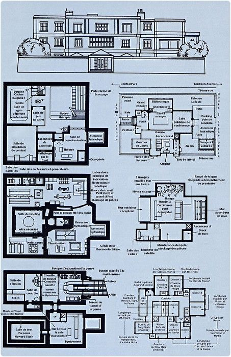 17 best geek blueprints images on pinterest stars projects and blueprint avengers mansion pesquisa google malvernweather Images