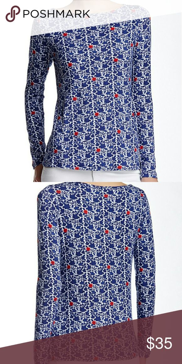 Amour Vert Francoise Nautical Long Sleeve Tee XS Amour Vert Francoise nautical long sleeve tapestry print tee. XS. Boatneck. Made in USA by an ethical and sustainable clothing brand. 95% modal, 5% spandex. Sold out pattern. Never worn. Amour Vert Tops Tees - Long Sleeve