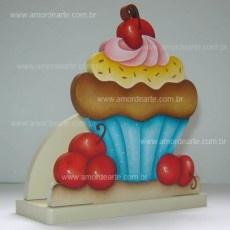 Porta Guardanapo Cupcake Cereja - Amor de Arte
