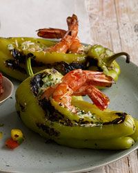 "Shrimp-Stuffed Peppers -   Fruity, pale-yellow güero peppers—just like Hungarian wax peppers—are a great source of vitamin C, folate and manganese. They're perfect for stuffing because ""they have a little chile personality without being too hot,"" Deborah Schneider says. The shrimp-and-cheese filling here is a delicious source of protein. And the tomatoes in the salsa add vitamin K and potassium while also balancing the sweetness of the mangos, which are high in vitamins A and C."