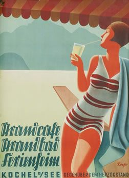 Grandcafe - Grandbad - Kochel am See by Loehr | Vintage Posters at International Poster Gallery