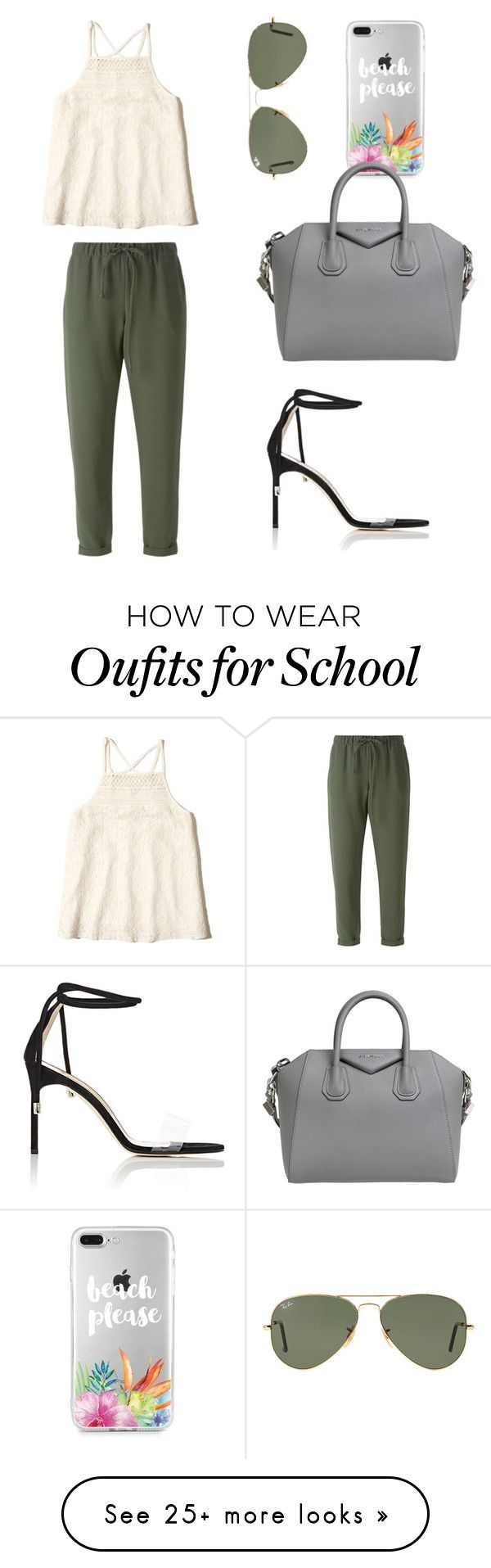 """""""School Meeting"""" by sarahfohlen on Polyvore featuring P.A.R.O.S.H., Ray-Ban, Givenchy, Manolo Blahnik, Hollister Co., Spring and 2k17"""