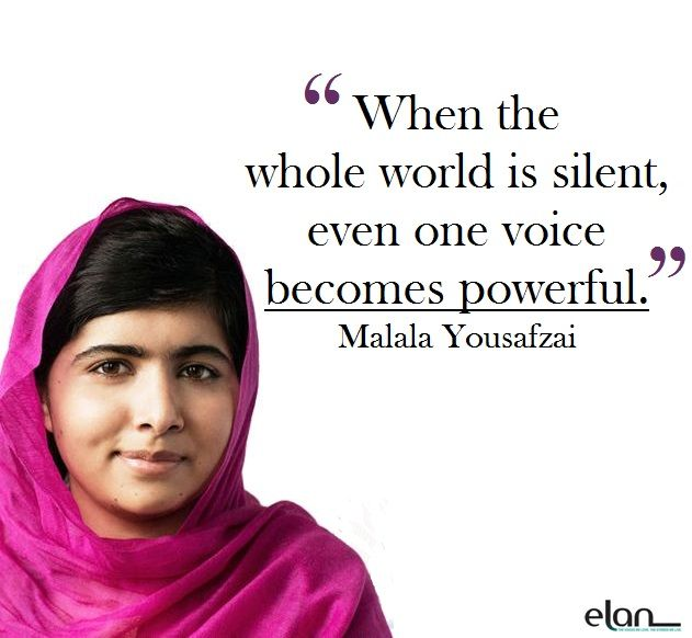 """""""When the whole world is silent, even one voice becomes powerful."""" - Malala Yousafzai Happy International Women's Day. Here's to all then women who have changed the world and all the ones striving to."""