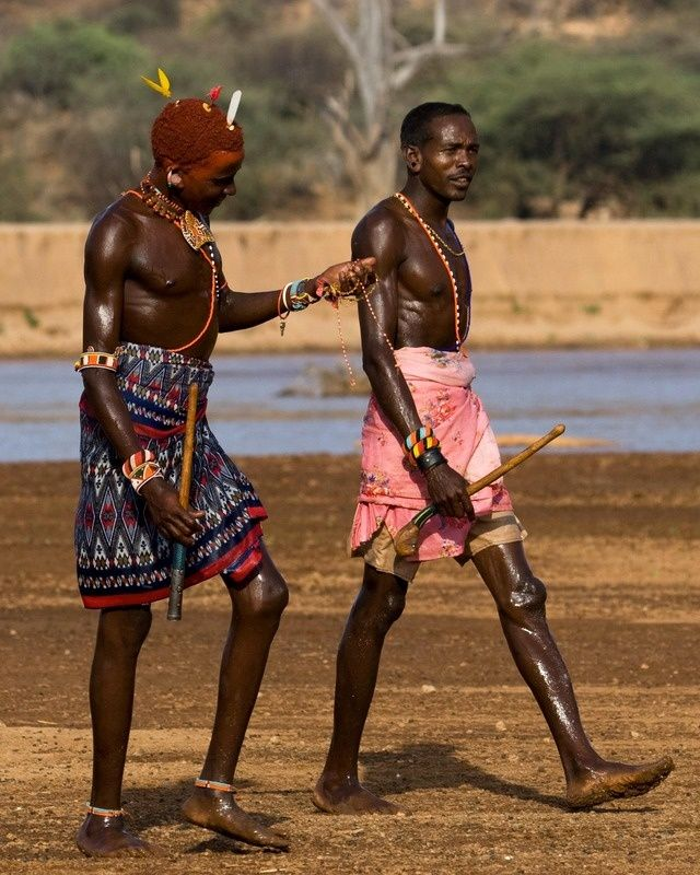 Samburu men - © Michael Lorentz