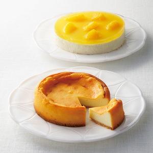 オレンジの清涼感たっぷり。【大阪 チーズケーキセット】
