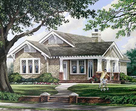 Best House Plans Images On Pinterest Floor Plans Mobile - Craftsman house plans elevation