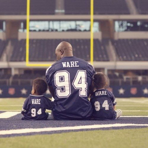 DeMarcus Ware...so cute!  My favorite Dallas Cowboys player #94!!!!