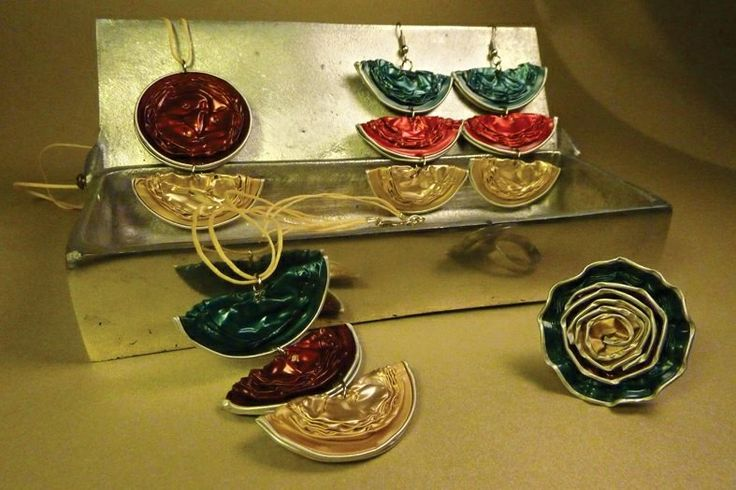Margarita's creations ( ring , earrings & necklace)