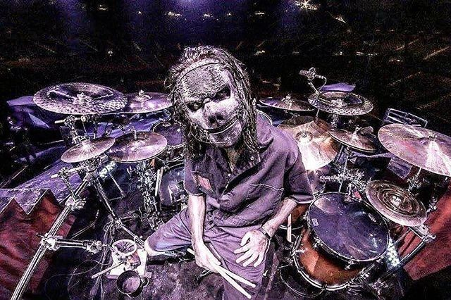 Jay Weinberg - 2016. regram @mikebragapenha Practicing and playing along to #thegraychapter by @slipknot and wondering how much #caffeine @jayweinberg needed to write/record/track these songs #drummer #drums #headbangers #heavymetal #Slipknot #StepInside #SeeTheDevilinI #killpop #aov #custer