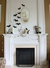 The mantle- not the Halloween decor