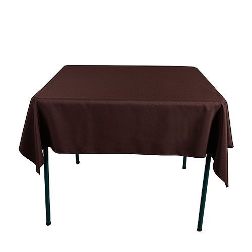 Chocolate brown 52 x 52 inch square tablecloths fuzzy for Tablecloth 52 x 120
