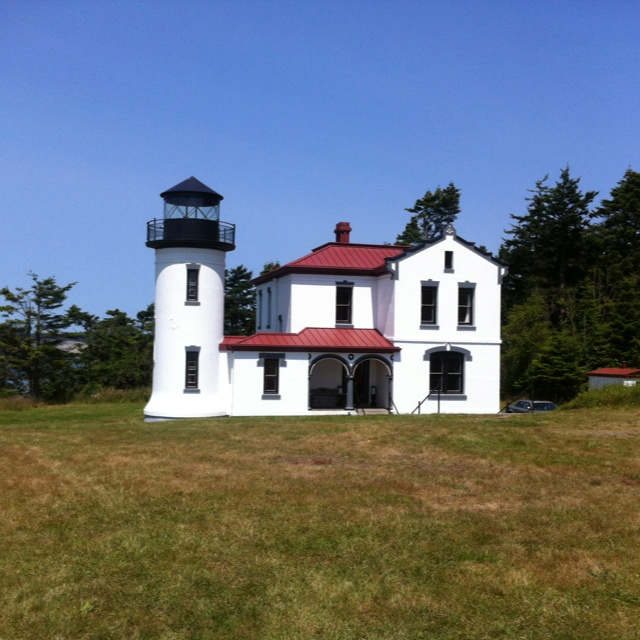 Fort casey lighthouse, Whidbey Island, Washington: Phares Amérique