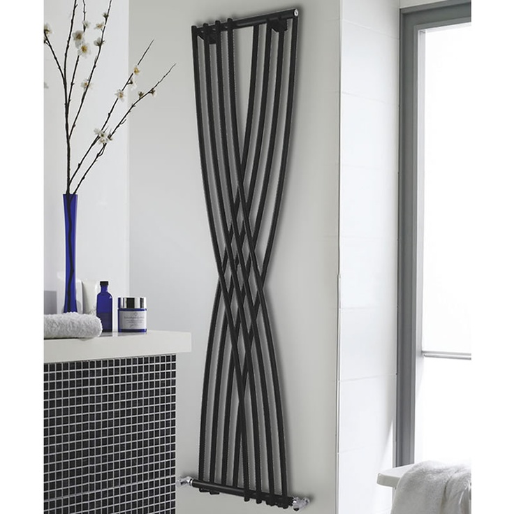 High Gloss Black Xcite Designer Radiator 1775mm x 450mm