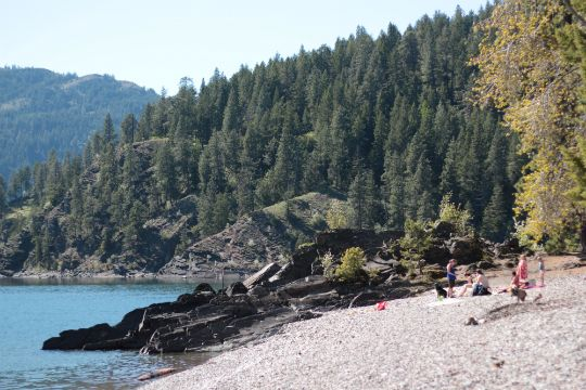 Green Bay Campground Idaho -- no fee -- on Pend Oreille Lake