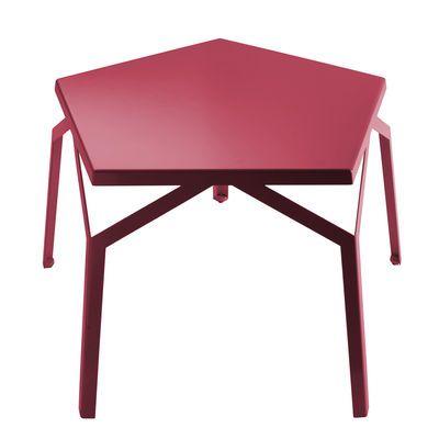 Tavolino Jesi Rosso design Giulio Iacchetti for internoitaliano