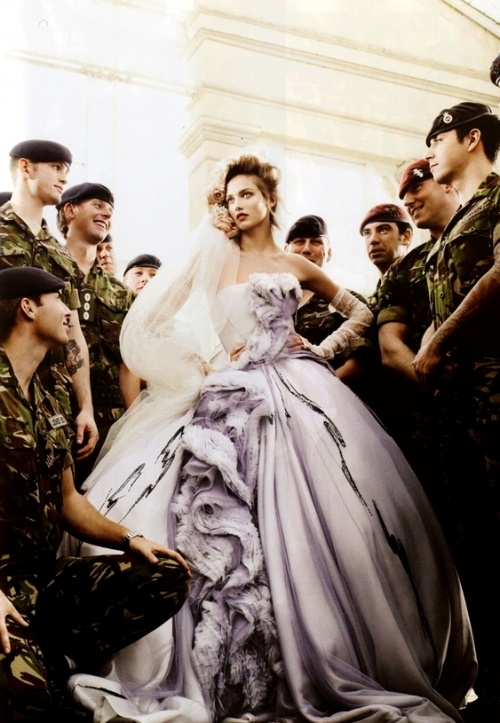 Wedding Belles [Editorial]: Karmen Pedaru by Mario Testino for Vogue UK May 2011