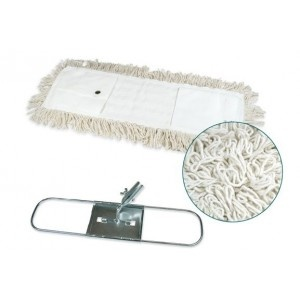 Mopa industrial algodón 15x100 cms con bastidor metálico