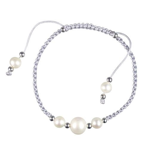 Grey Shambala Bracelet with Freshwater Pearls www.facebook.com/apassionforpearls