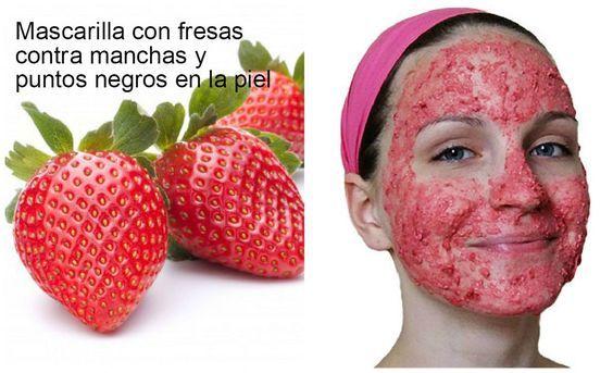 Mascarilla de fresas para las manchas de la piel y puntos negros, ¡toma nota!