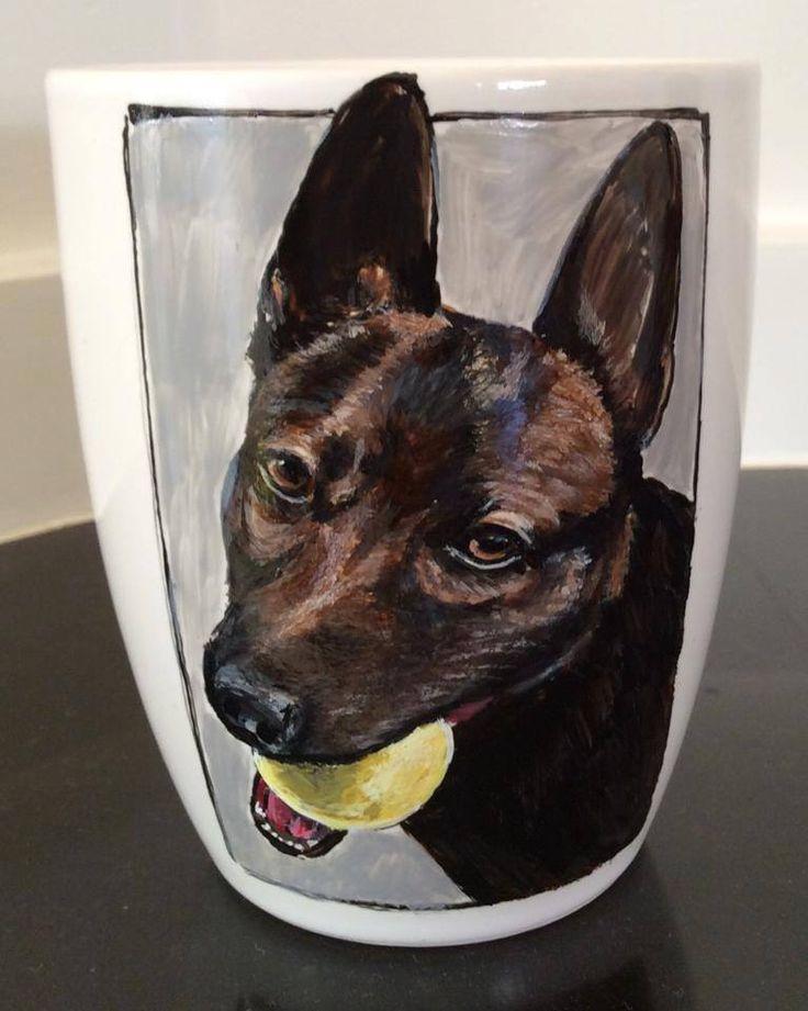 "hand painted customized mug ""shepherd"""