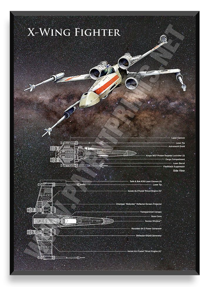 X-Wing, Star Wars Poster