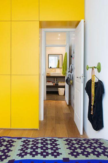 happy yellow built ins