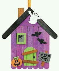 strašidelný dom z paličiek 1