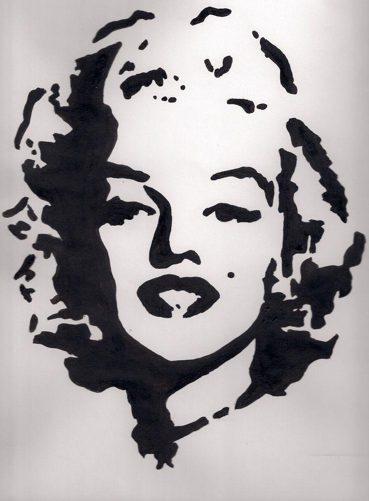 Marilyn Monroe Face Silhouette Tattoo Marilyn art  marilyn monroe