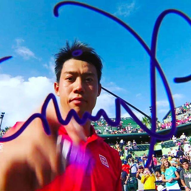 Pinを追加しました!/よしっ! 錦織圭選手 #miamiopen 初戦危なげなく突破! #GO錦織 #keinishikori #wilson #burn95cv #uniqlo #nike #tennistv #tennis