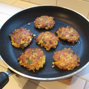 Easy Recipe for Vegetable Pancakes - Zucchini, yellow squash, or corn