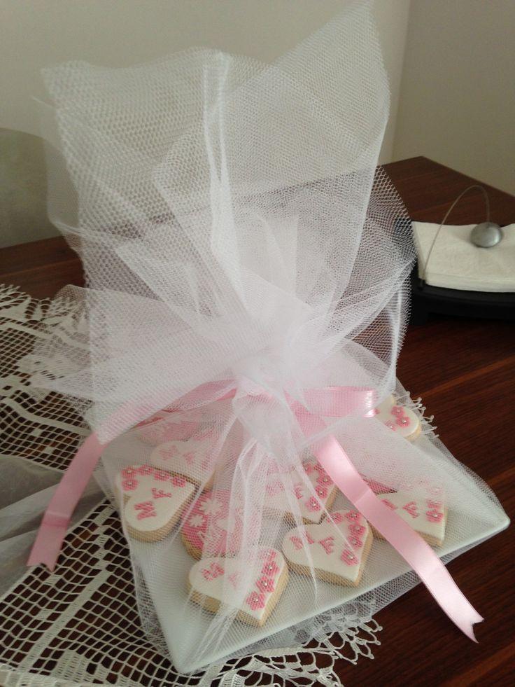 Engagement (Pink - White) Cookies - Nişan Kurabiyeleri
