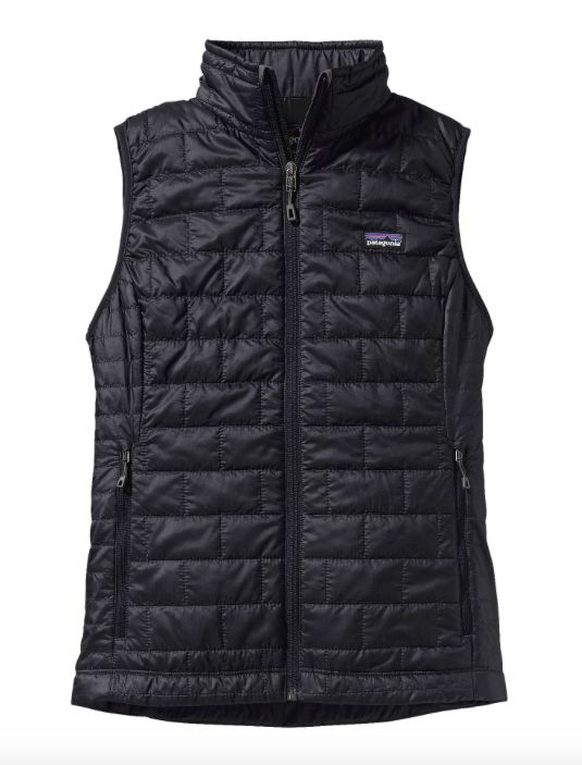 Warm, windproof, water-resistant, the Patagonia Women's Nano Puff® Vest in Black uses warm, incredibly lightweight and highly compressible insulation, wrapped in a 100% recycled polyester shell and li