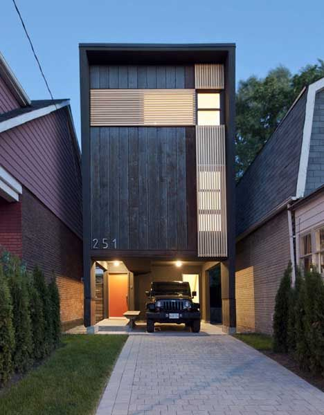 "16-foot wide home, dubbed ""the Shaft"", is a two and a half story structure that makes the best of its tiny footprint."