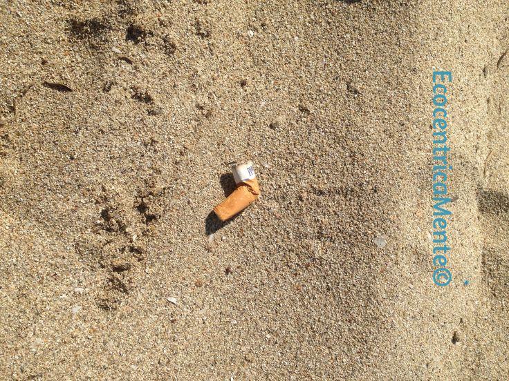 Non gettare i mozziconi sulla spiaggia!