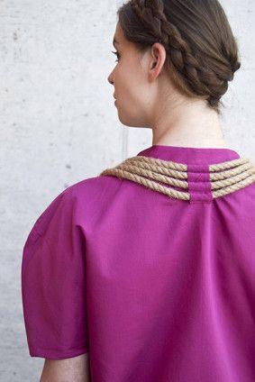 T.Cočevová, kolekce inspirovaná tradicí, fashion, tradition, string, foto: L.Schubertová #design #czechdesign