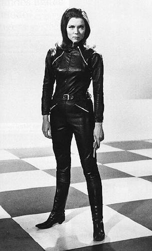 Diana Rigg  as Emma Peel: I adored her but I knew there was never any way I'd ever be that cool. Or look that good in a leather catsuit.